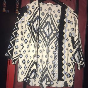 Indian print buttonless blouse